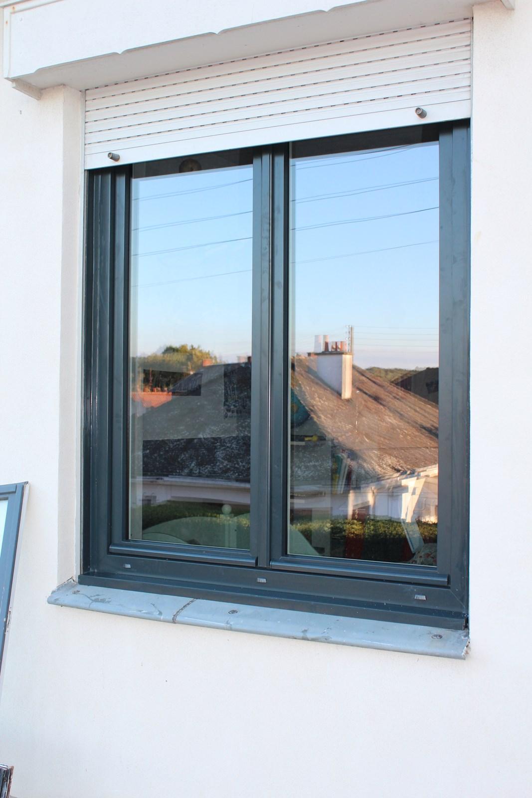 Fenêtre 2 Vantaux Gris Anthracite